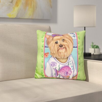 Yorkie Fish Throw Pillow