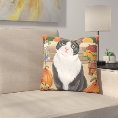 Harvest Cat Throw Pillow