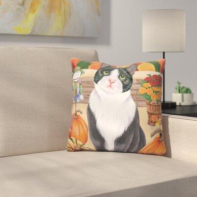 Harvest Cat Throw Pillow