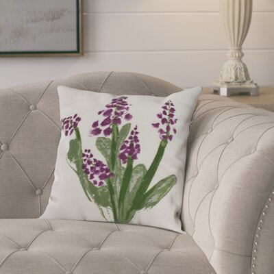 Kaylor Bluebell Indoor/Outdoor Throw Pillow Color: Purple, Size: 18 x 18