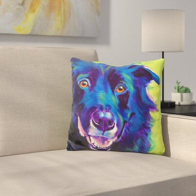 Border Collie Viktor Throw Pillow