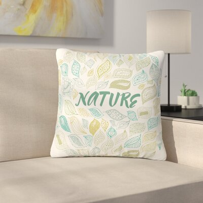 Pom Graphic Design Earth Outdoor Throw Pillow Size: 16 H x 16 W x 5 D