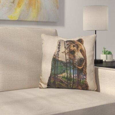Marydel Bear Lake Throw Pillow