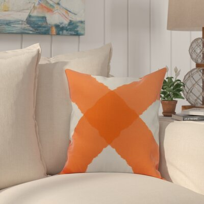 Crider X Marks the Spot Geometric Print Indoor/Outdoor Throw Pillow Color: Orange, Size: 16 x 16