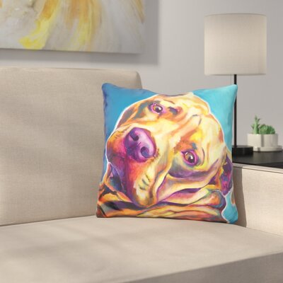 Pit Bull Dozer Throw Pillow