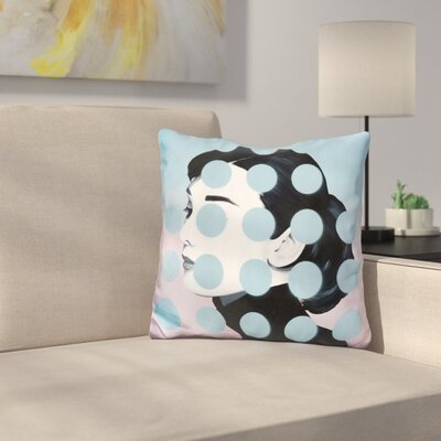 Audrey Dots Throw Pillow