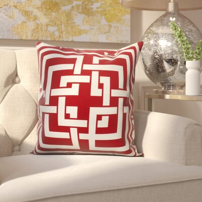 Clarisse Throw Pillow Color: Red, Size: 18 x 18