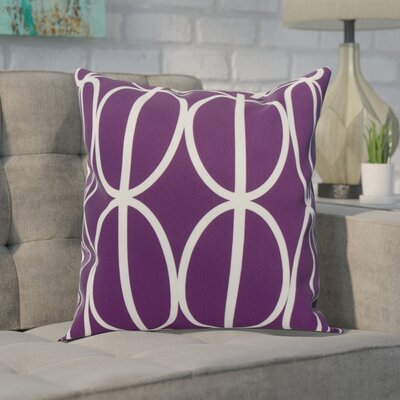 Crosswhite Ovals Go Round Geometric Print Indoor/Outdoor Throw Pillow Color: Purple, Size: 16 x 16
