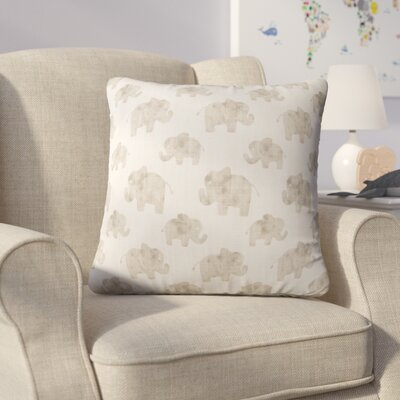 Westminster Elephant Linen Throw Pillow Color: Beige