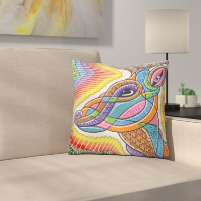 Clear Deer Throw Pillow
