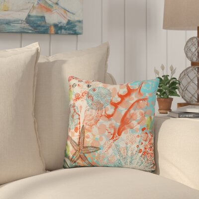 Camptown Exotic Sea Life Throw Pillow