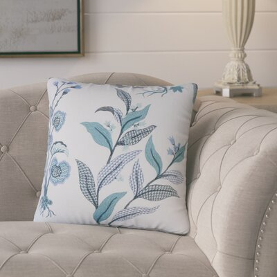 Ponton Floral Cotton Throw Pillow Color: Indigo