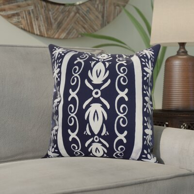 Crisler Geometric Print Indoor/Outdoor Throw Pillow Color: Navy Blue, Size: 18 x 18