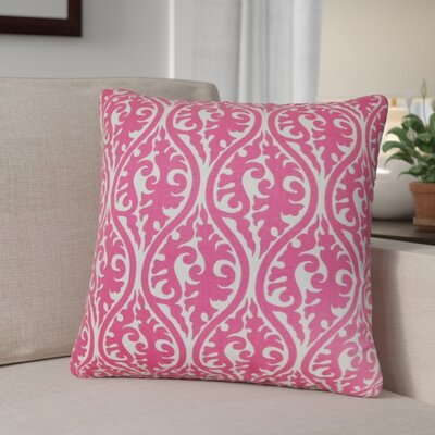 Parsons Geometric Cotton Throw Pillow Color: Candy Pink, Size: 24 x 24