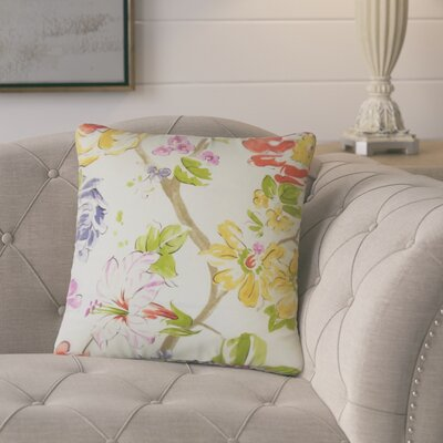Barney Floral Throw Pillow Color: Pink/Green