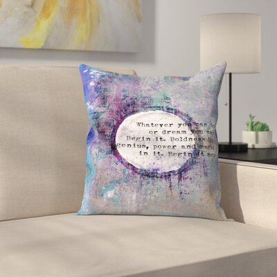 Begin Throw Pillow Size: 14 x 14