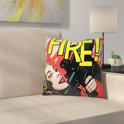 Walk Through the Fire Throw Pillow
