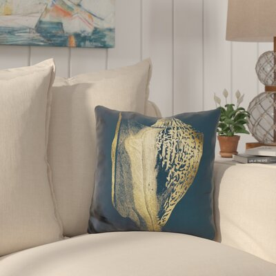 Buchheit Shell on Cobalt Throw Pillow