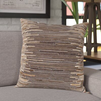 Alanson Throw Pillow Color: Brown, Size: 20 H x 20 W x 5 D, Type/Fill: Pillow With Polyester Insert