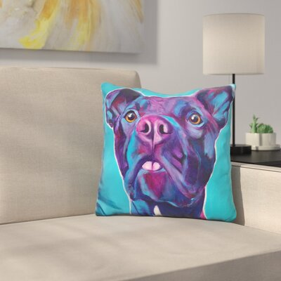 Pit Bull Neko Throw Pillow