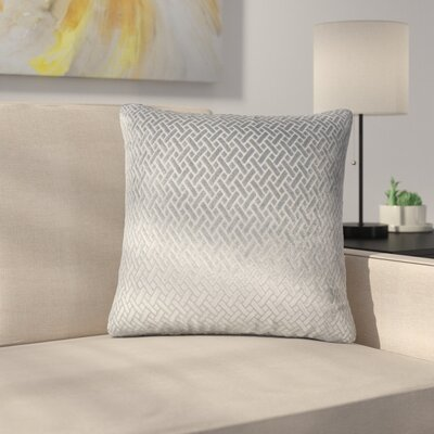 Stradford Solid Throw Pillow Color: Slate