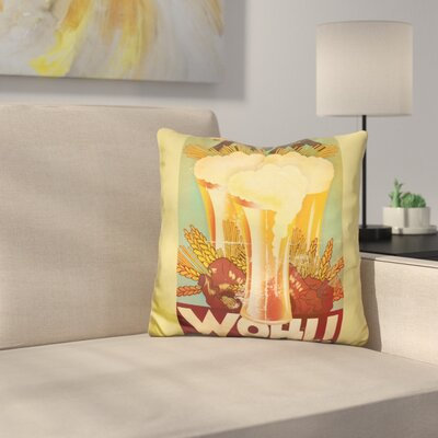Zum Wohl! Throw Pillow