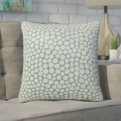 Xandra Polka Dot Throw Pillow Color: Blue
