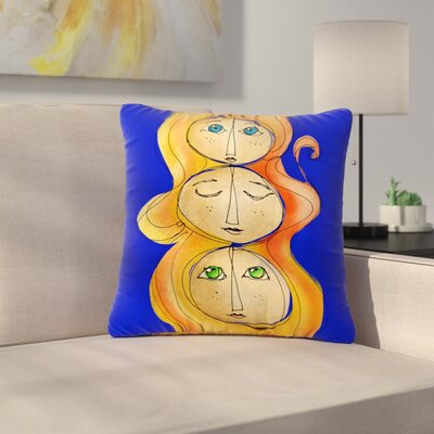 Carina Povarchik My Many Selfs Fantasy Outdoor Throw Pillow Size: 18 H x 18 W x 5 D