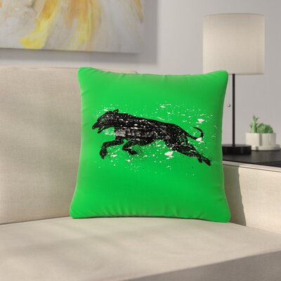 BarmalisiRTB Dog Wildlife Outdoor Throw Pillow Size: 16 H x 16 W x 5 D