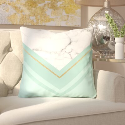 Katalina Marble Throw Pillow Size: 18