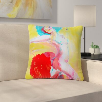 Cecibd Circus Illustration Outdoor Throw Pillow Size: 18 H x 18 W x 5 D