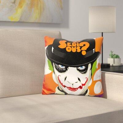 A Clockwork Joker Throw Pillow