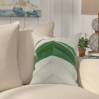 Crider Boat Bow Center Print Indoor/Outdoor Throw Pillow Color: Green, Size: 16 x 16