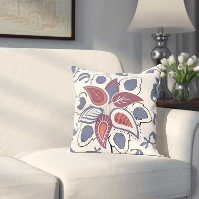 Orchard Lane Paisley Pop Floral Throw Pillow Size: 16 H x 16 W, Color: Blue