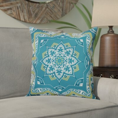 Meetinghouse Shawl Geometric Outdoor Throw Pillow Size: 18 H x 18 W, Color: Teal