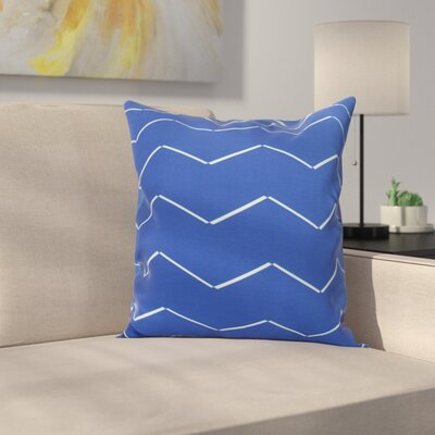 Meehan Stripe Geometric Print Indoor/Outdoor Throw Pillow Color: Royal Blue, Size: 18 x 18