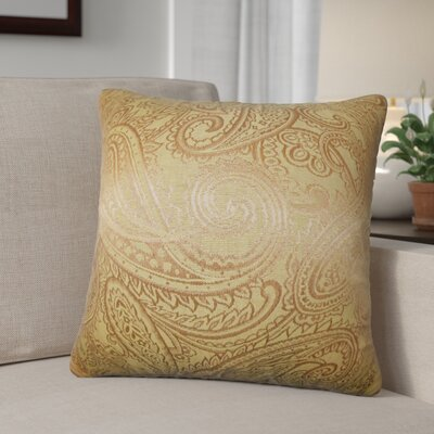 Digby Paisley Cotton Throw Pillow Color: Yellow