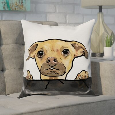 Faria Dog Behind Sofa Throw Pillow