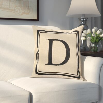 Beaver Creek Monogram Throw Pillow Letter: D