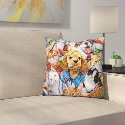 Yarn Buddies Throw Pillow