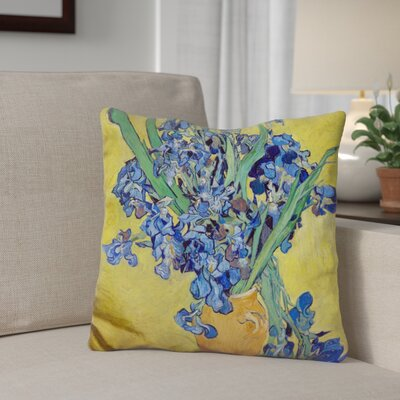 Gerke Vase with Irises Throw Pillow