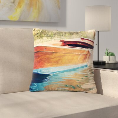 Sylvia Coomes Venetian Boat Outdoor Throw Pillow Size: 18 H x 18 W x 5 D