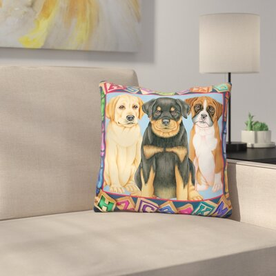 Back to School Pups Throw Pillow