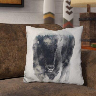 Lemanski Bison in Mist Throw Pillow