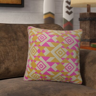 Levey Throw Pillow Size: 24 x 24, Color: Pink, Orange, Gray
