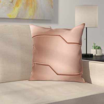 Metallic Seem Bar Square Pillow Cover Size: 24 x 24