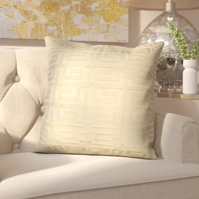 Roles Crystal Woven Decorative Pillow Cover Color: Yellow