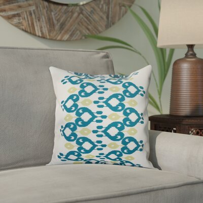 Sabrina Geometric Print Throw Pillow Size: 16 H x 16 W, Color: Teal
