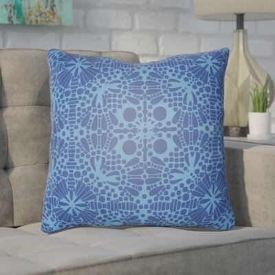 Zanuck Throw Pillow Size: 18 H x 18 W x 4 D, Color: Blue