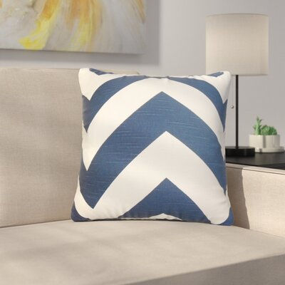 Sullivan Zigzag Cotton Throw Pillow Color: Navy